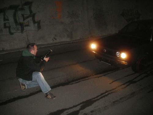 Photoshooting im Tunnel