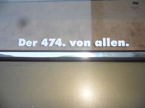 Der 474. von allen.