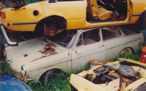VW Typ3 Kurzschnautzer Schrottplatz