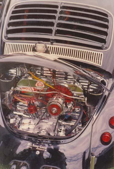 Verchromter Motorraum VW Käfer