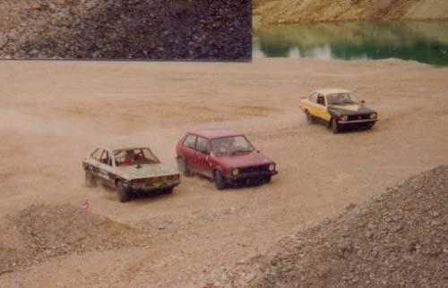 Startaufstellung Stockcar Rennen