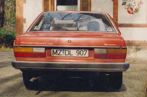 Heckansicht Audi 100 Typ 43 5S