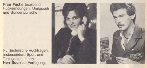 Auto Albrecht Katalog 1985