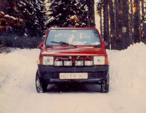 Christbaum Fiat Panda 45