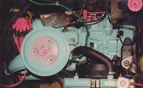 Lackierter Motor Fiat Panda 45 1982
