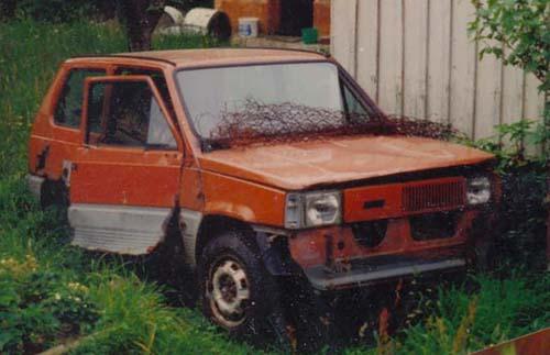 Schlachtfahrzeug Fiat Panda 45 1981