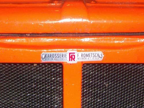 Emblem Karosserie Rometsch