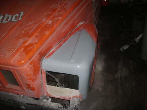 VW Kübel Kotflügel verschliffen