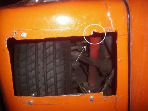Lampenausschnitt VW Kübel