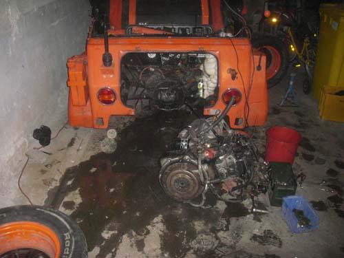 Motorausbau VW Kübel