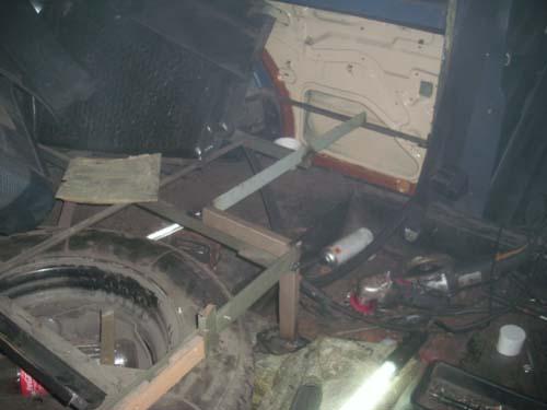 Gestell Boden Sargraum Leichenwagen Rappold