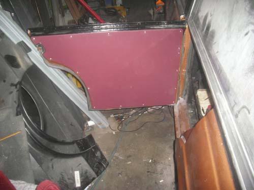 Türverkleidung halbe Tür Rappold Leichenwagen Mercedes /8