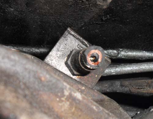 Abgeschnittener Hydraulikschlauch