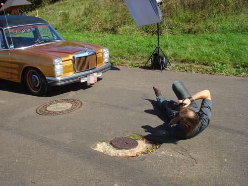 Fotoshooting Leichenwagen Motor Maniacs