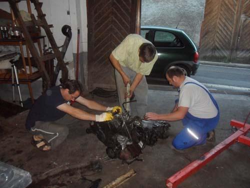 Motor Getriebe trennen