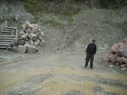 Steinbruch mit Matsch