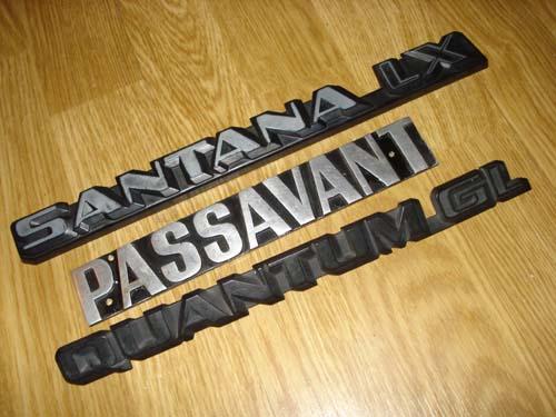 Emblem Schriftzug vw Quantum GL Passavant