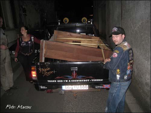 Klavier auf Pickup