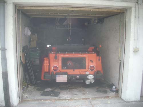 Jägerkübel in Garage