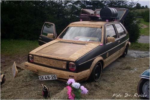 VW Golf 2 Bambuslook