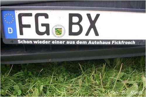 Kennzeichenhalter Autohaus Fickfrosch