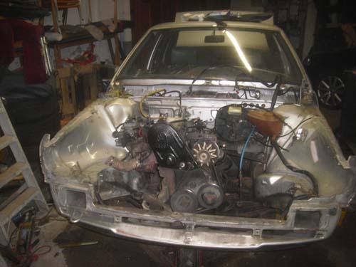 Gefledderte Front VW Santana