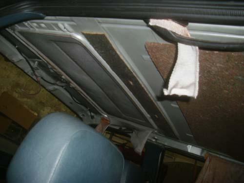 Stahlschiebedach VW Santana Passat 32B von innen