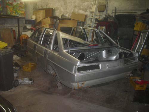 Ausgeschlachteter VW Santana