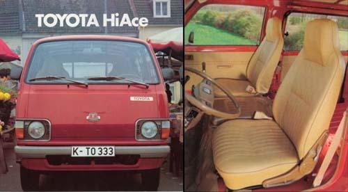 Sitze Toyota HiAce H11