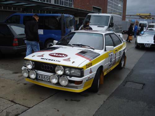 Audi Urquattro Rallyefahrzeug