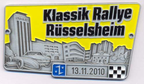Plakette Klassik Rallye Rüsselsheim 2010