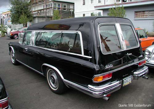 Mercedes Benz W100 600 Hearse Funeral Car