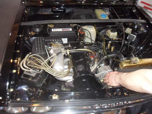 Motorraum Audi 80 GTE