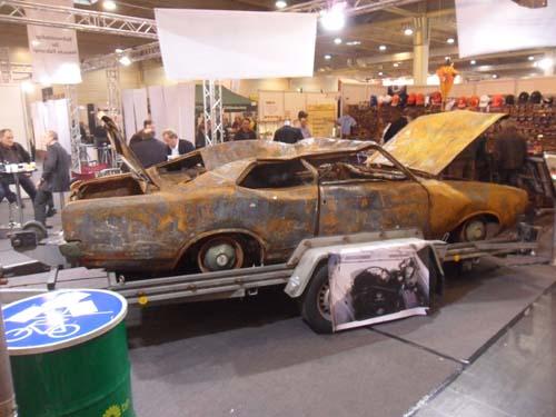 Opel Rekord C Brandopfer