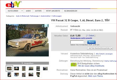 Auktion Passat 32BQP